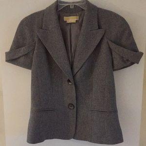 Michael Kors short sleeve wool blazer grey gray 6